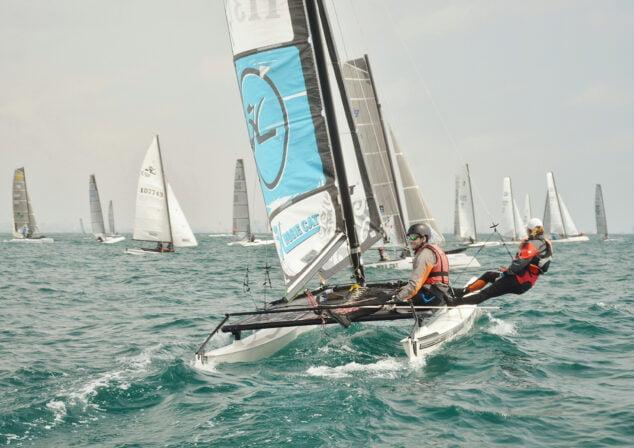 Imagen: Competición de catamarán