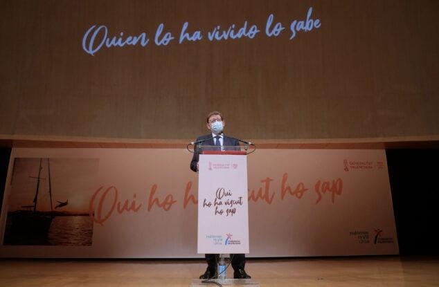 Imagen: El president ha participado en la presentación de la campaña de promoción 'Quien lo ha vivido lo sabe', que desarrollará la Generalitat para mostrar los atractivos de la Comunitat Valenciana como destino turístico