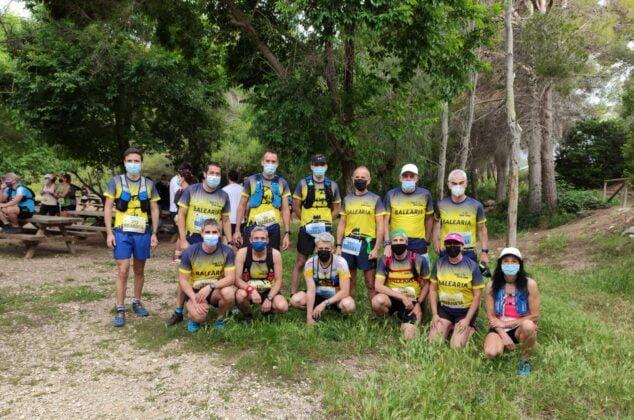 Imagen: Equipo del Dénia Corre en el Granadella Trail