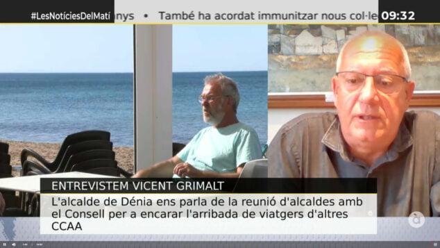 Imagen: Fotograma capturado de la entrevista de Vicent Grimalt en Les notícies del matí