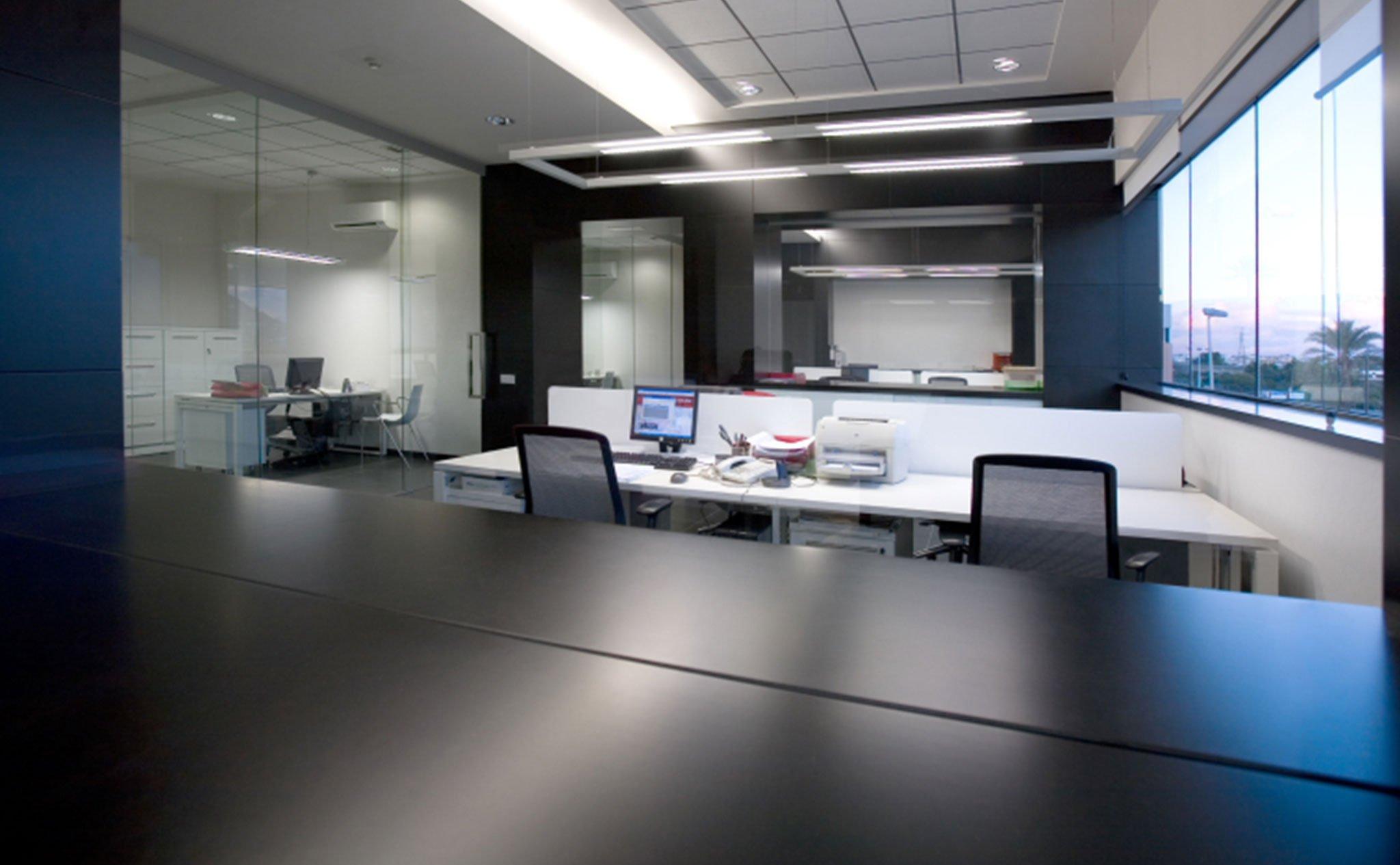 Interior de las oficinas de Alondra
