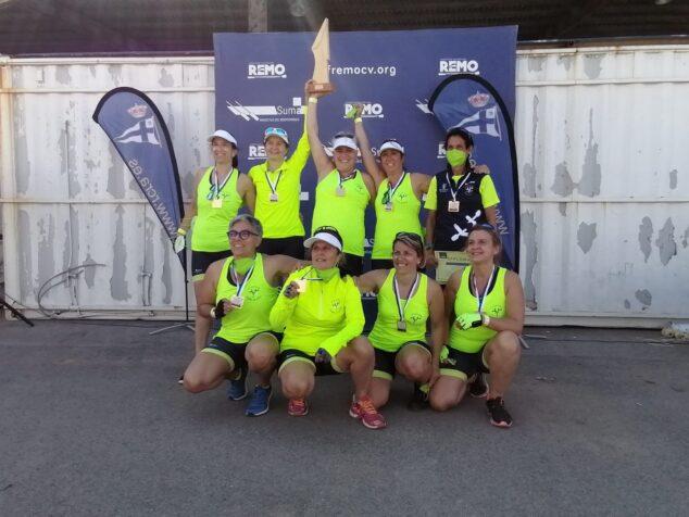 Imagen: Las veteranas del Club Rem Marina de Dénia se proclaman ganadoras del Campeonato autonómico de Llaüt Mediterráneo