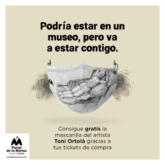 Imagen: Mascarilla creada por Toni Ortolà - Portal de la Marina