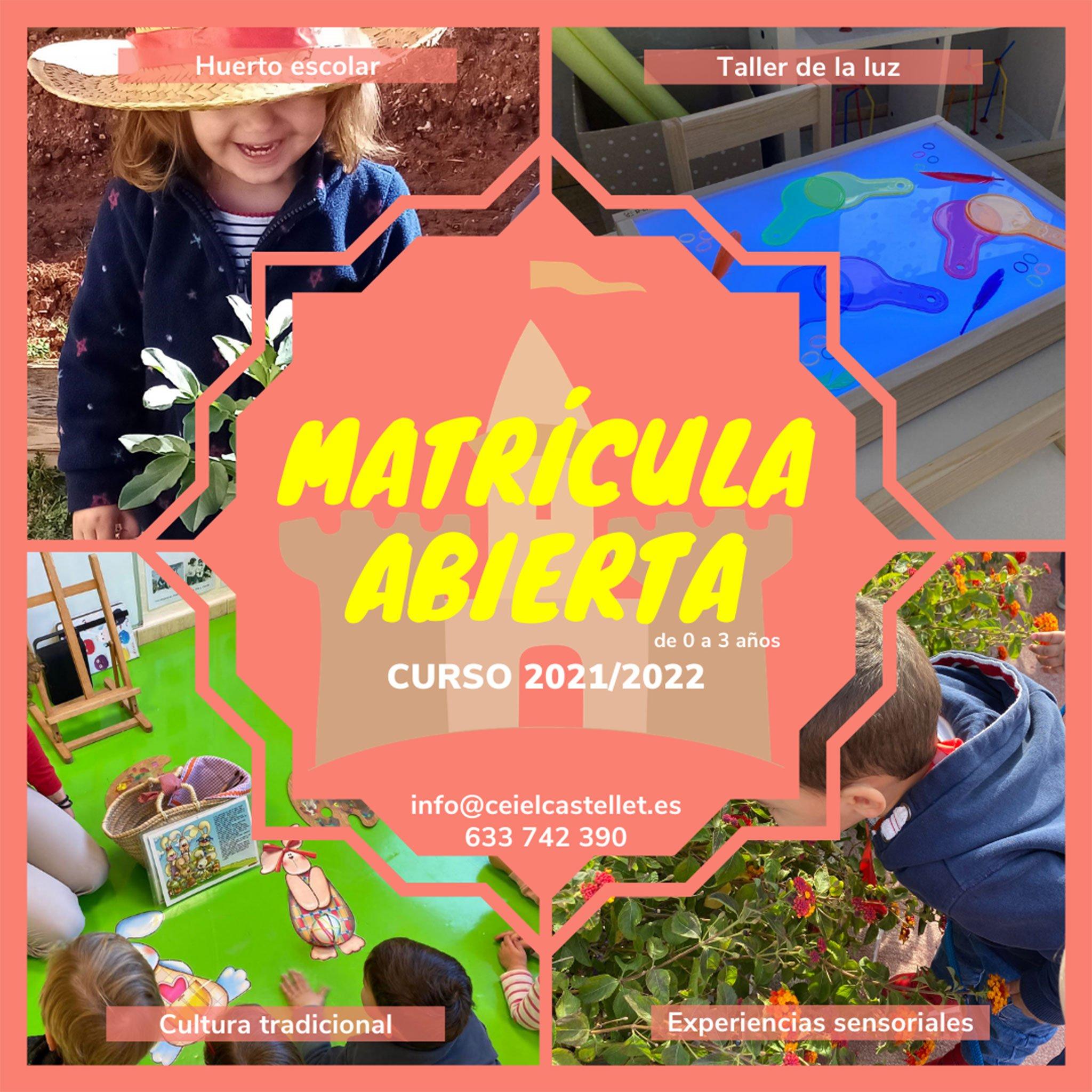 Matrícula abierta en CEI El Castellet de Dénia para el curso 2021-2022