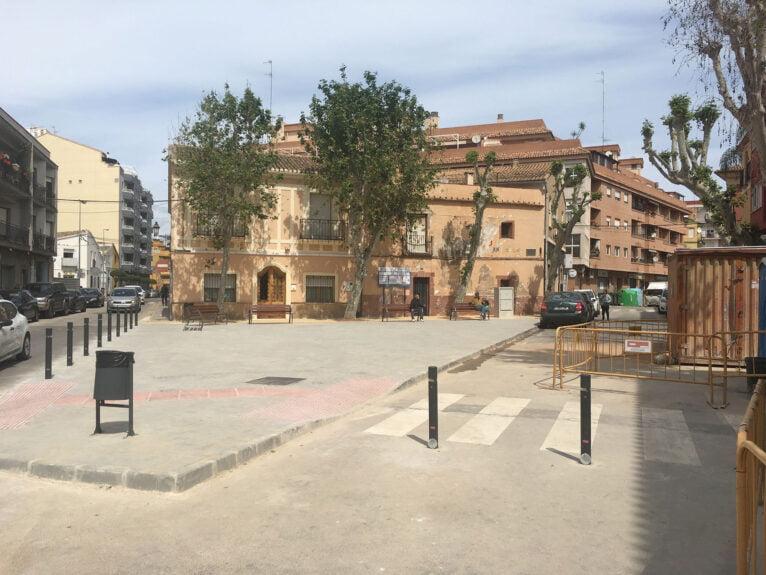 Nueva plaza Valgamedios tras la finalización de las obras