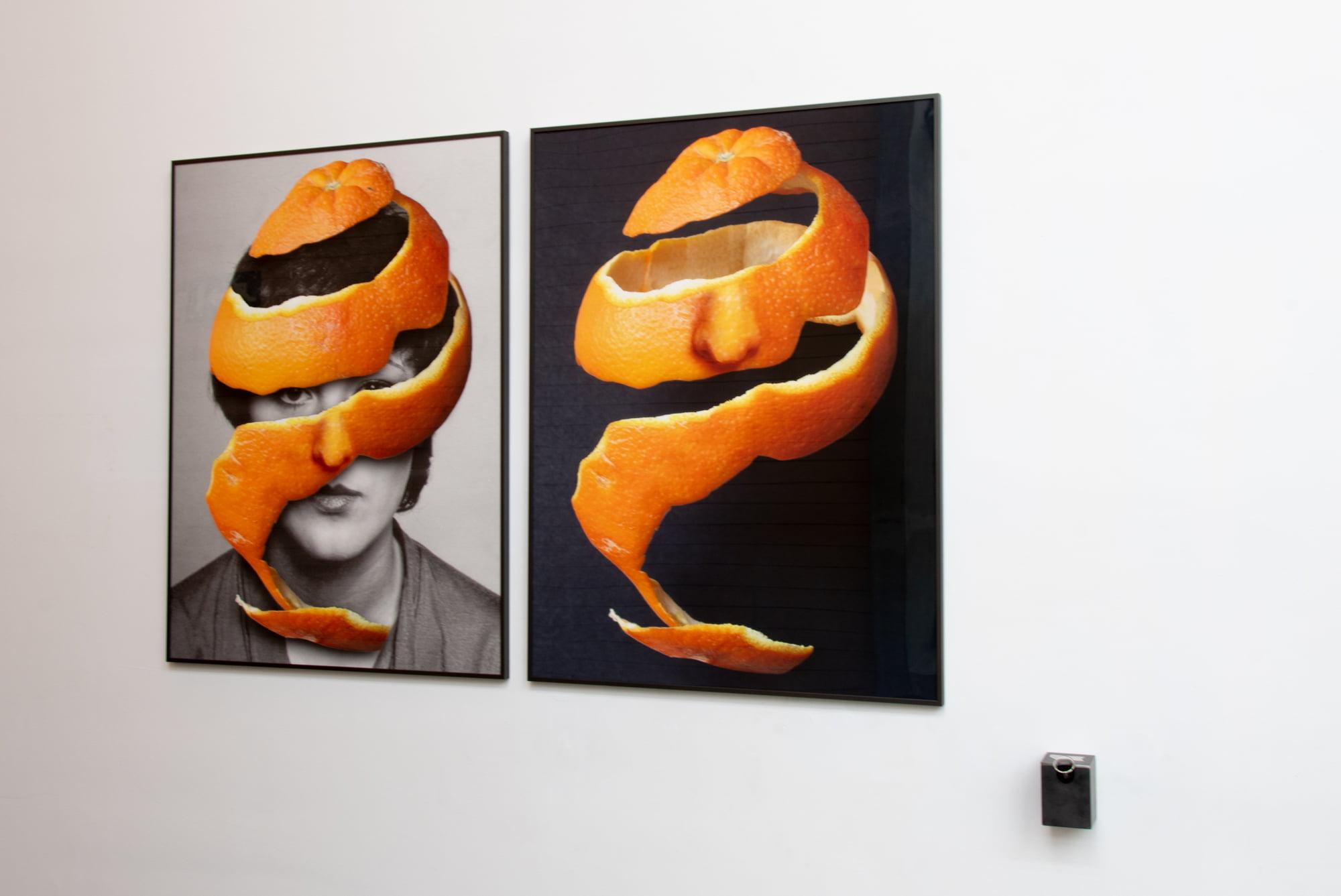 Obras de la exposición en el Hospital de Dénia