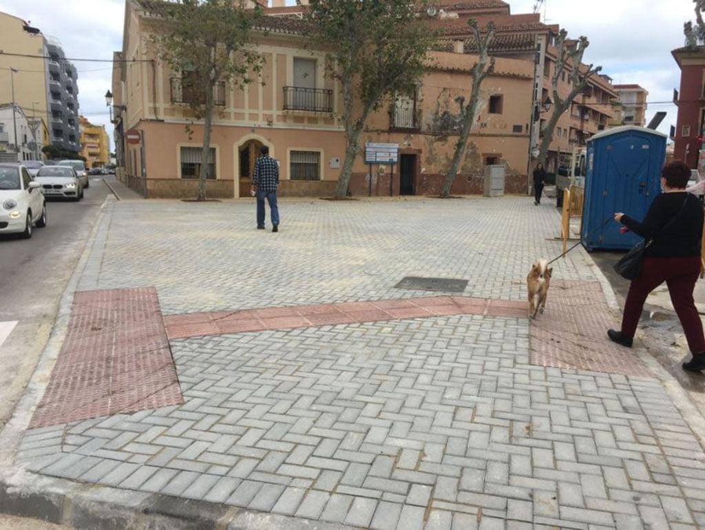 Plaza Oeste después de la remodelación