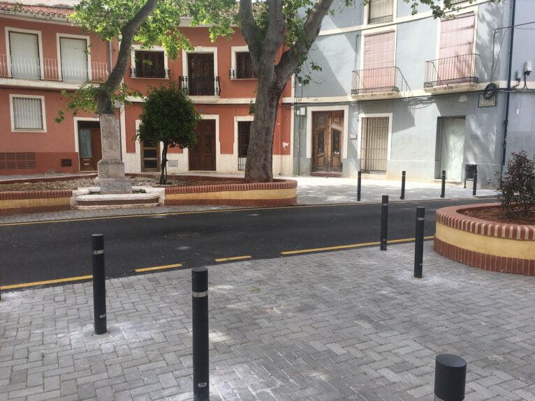 Plaza Tenor Cortis tras las obras de remodelación