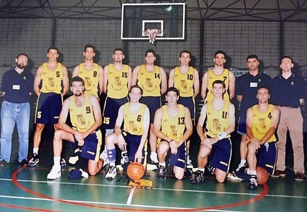 Imagen: Primer equipo del Denia Basquet año 1996:97