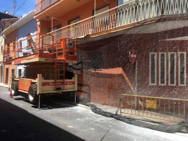 Imagen: Reforma de un particular en la calle Pare Pere de Dénia