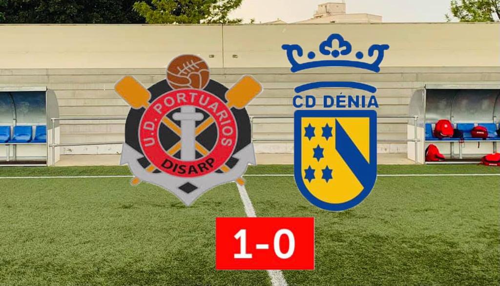 Resultado del partido entre el UD Portuarios y el CD Dénia