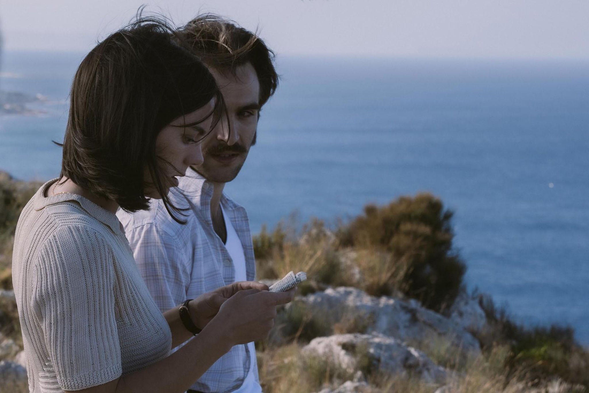 Ricardo Gómez y Vicky Luengo en el rodaje de El Sustituto