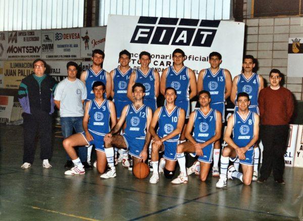 Imagen: Senior Masculino temporada  1989:90. Ascenso Segunda División en Silla