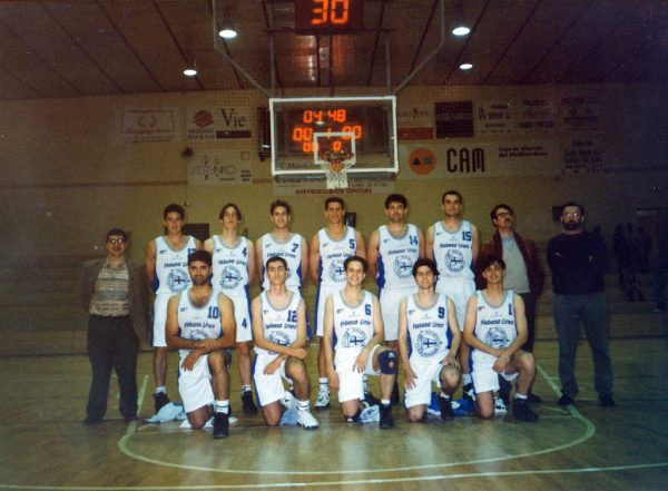 Imagen: Último equipo Senior Masculino Club Náutico Dénia de 2ª División Nacional temporada 1995:96
