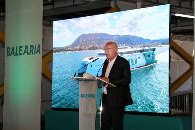 Imagen: Vicent Grimalt durante la presentación