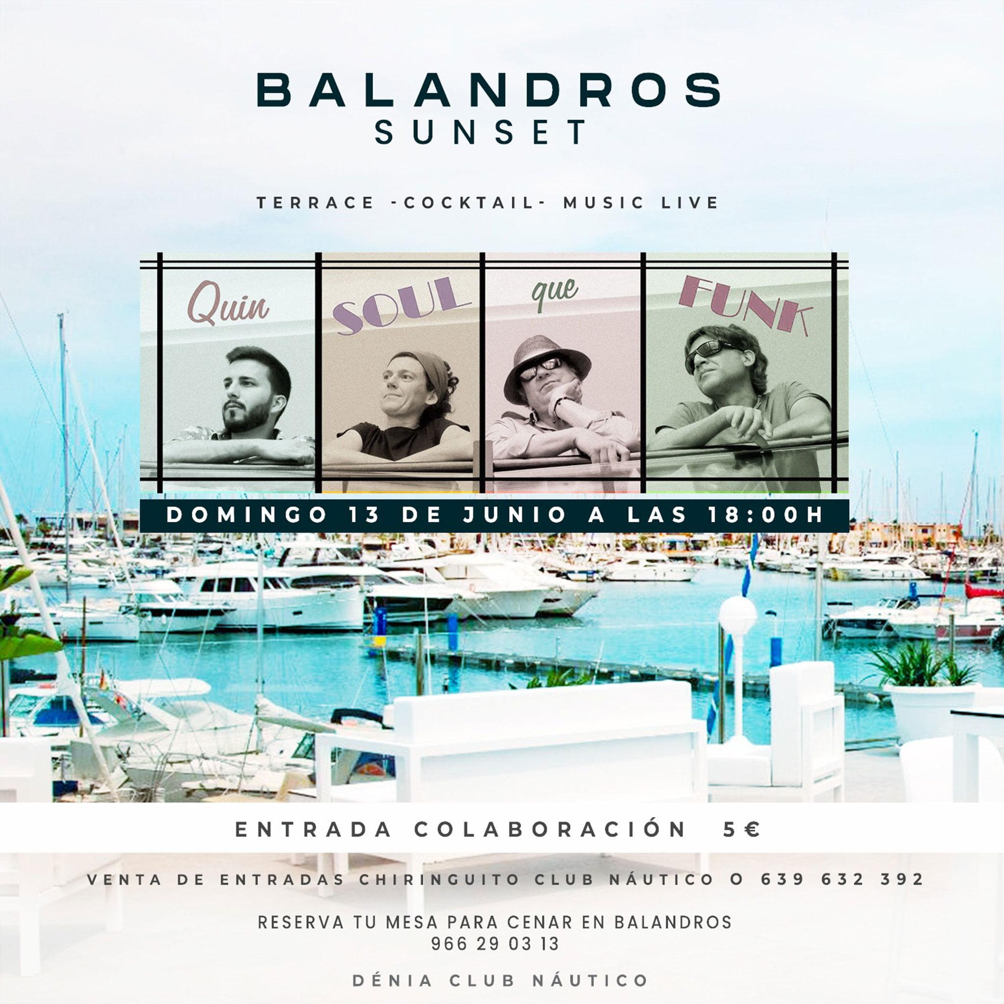"""Actuación musical """"Quin Soul que Funk"""" – Restaurante Balandros"""
