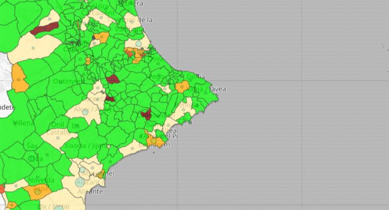 Actualización de datos de coronavirus por municipio del 18 de junio de 2021
