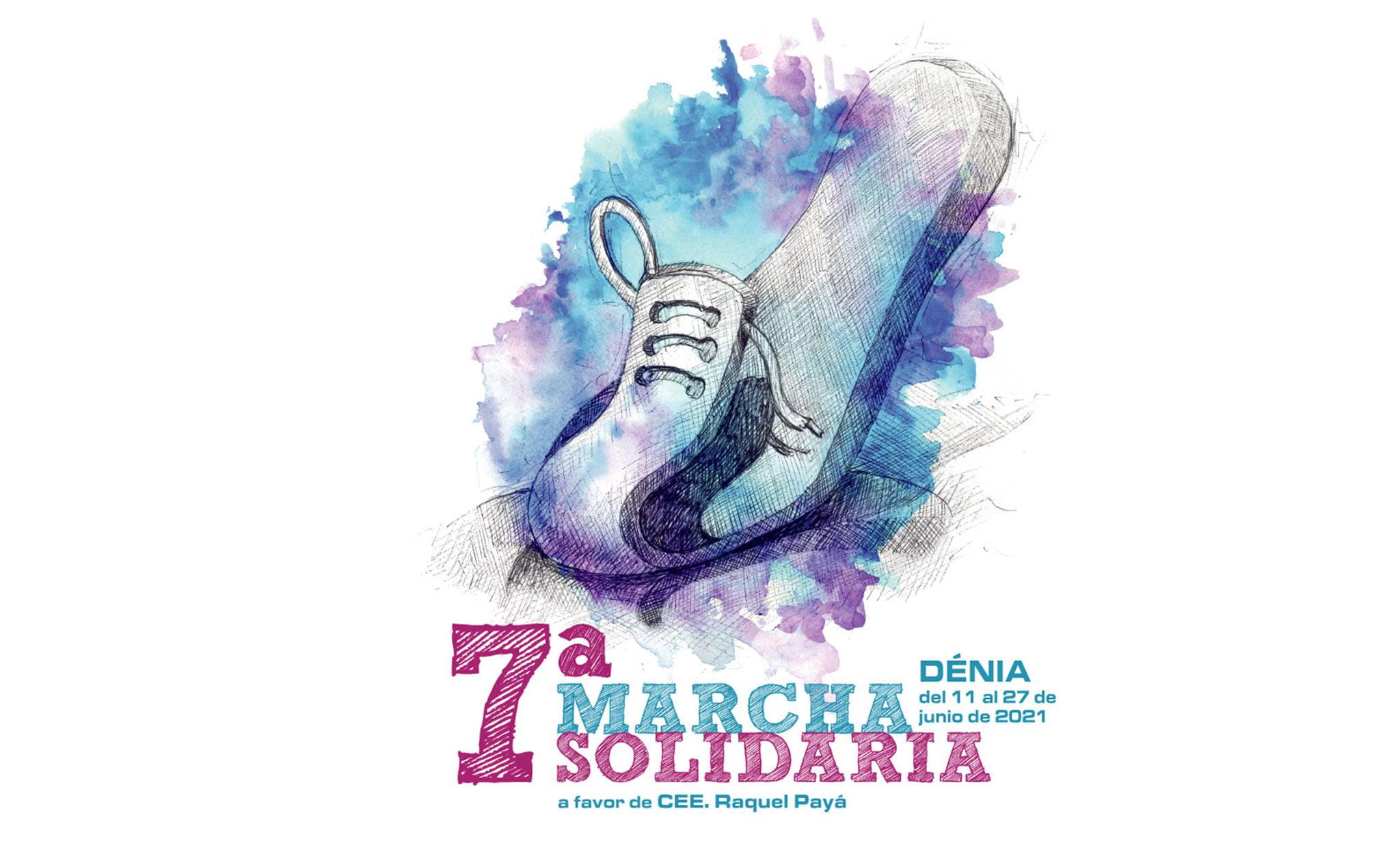 Cartel de la 7ª Marcha Solidaria en favor del CEE Raquel Payà