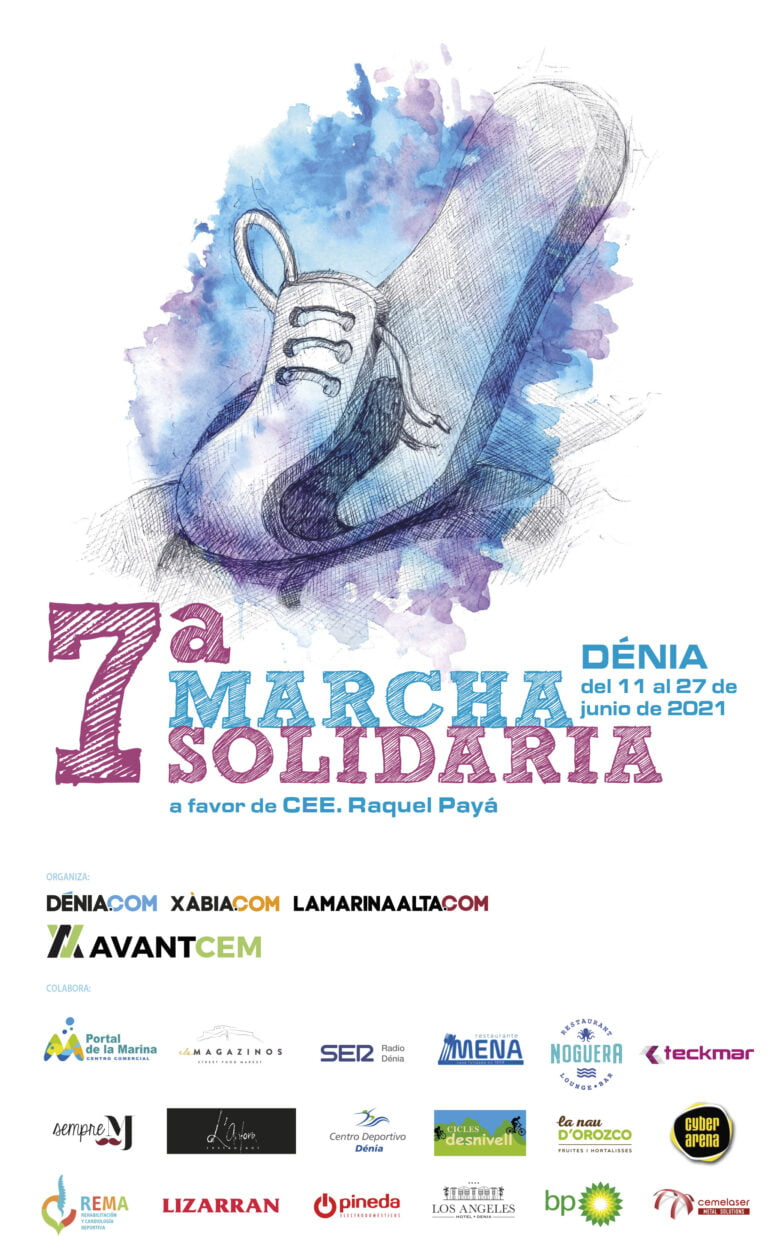 Cartel de la 7ª Marcha Solidaria a favor del Raquel Payá