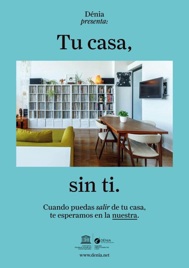 Imagen: Cartel de la campaña Tu casa sin ti