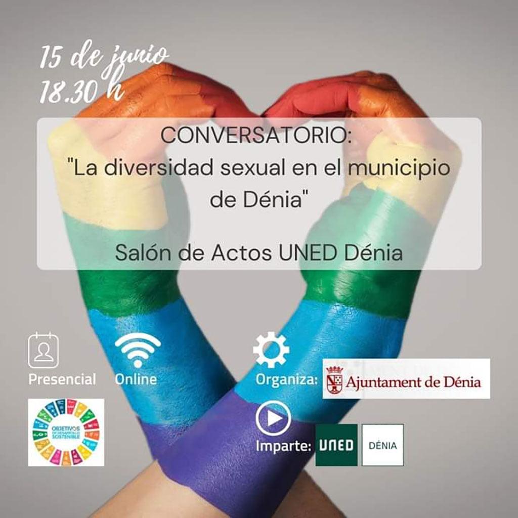 Cartel de La diversidad sexual en el municipio de Dénia