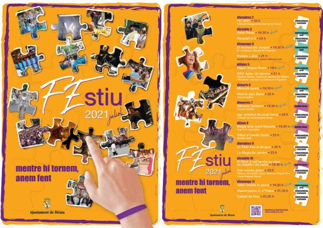 Imagen: Cartel y programación del FEstiu 2021