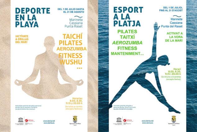 Imagen: Carteles de Deporte en la Playa de 2021