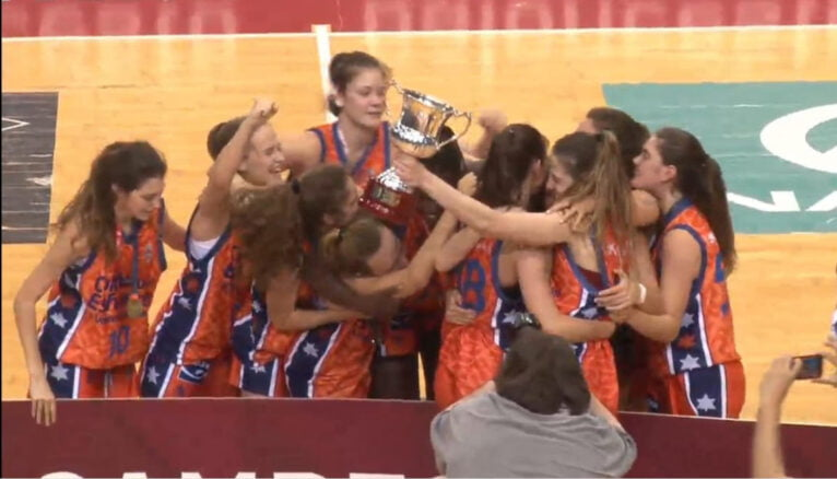 Celebración del Valencia Basket