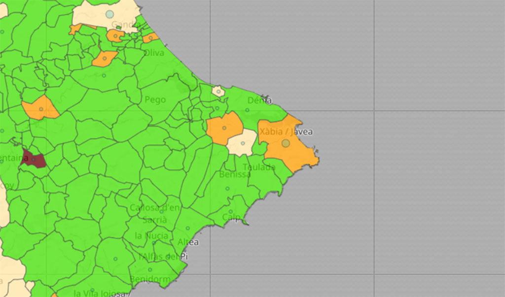 Datos de coronavirus por municipios en la actualización del 8 de junio de 2021