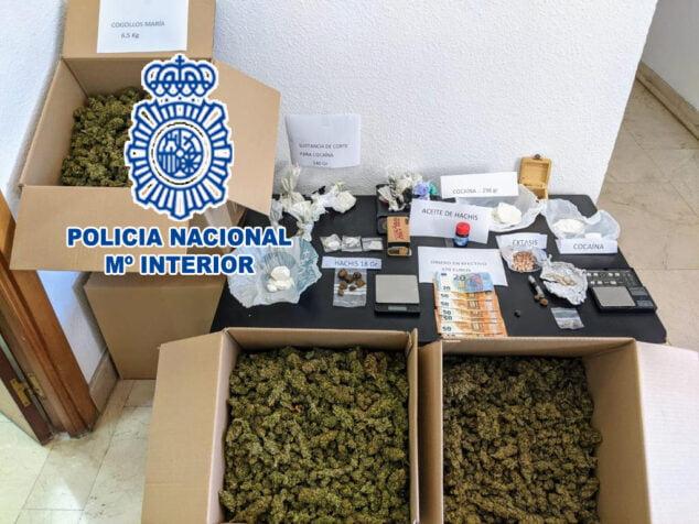 Imagen: Droga incautada en el registro