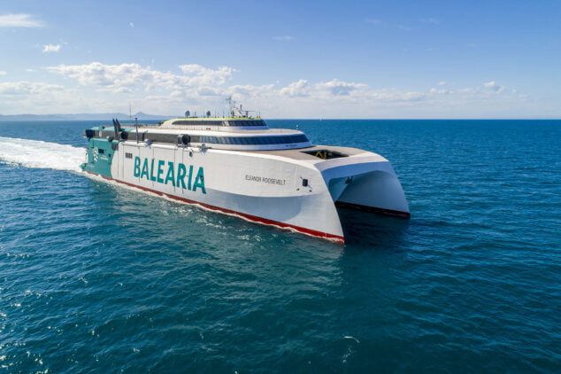 Imagen: El aplaudido fast ferry Eleanor Roosevelt de Baleària