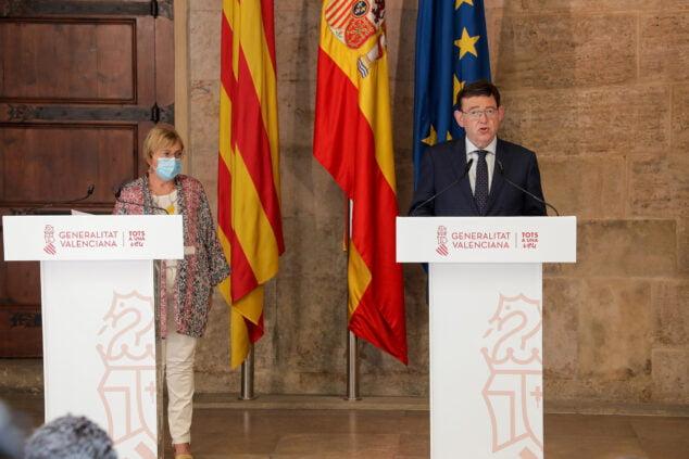 Imagen: El president de la Generalitat ha presidido la Mesa Interdepartamental para la Prevención y Actuación ante la COVID-19, en la que se ha acordado la prórroga de las actuales medidas