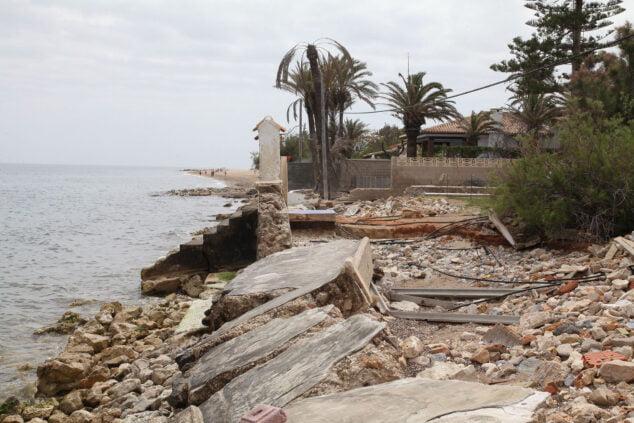 Imagen: Estado actual de lo que era la playa
