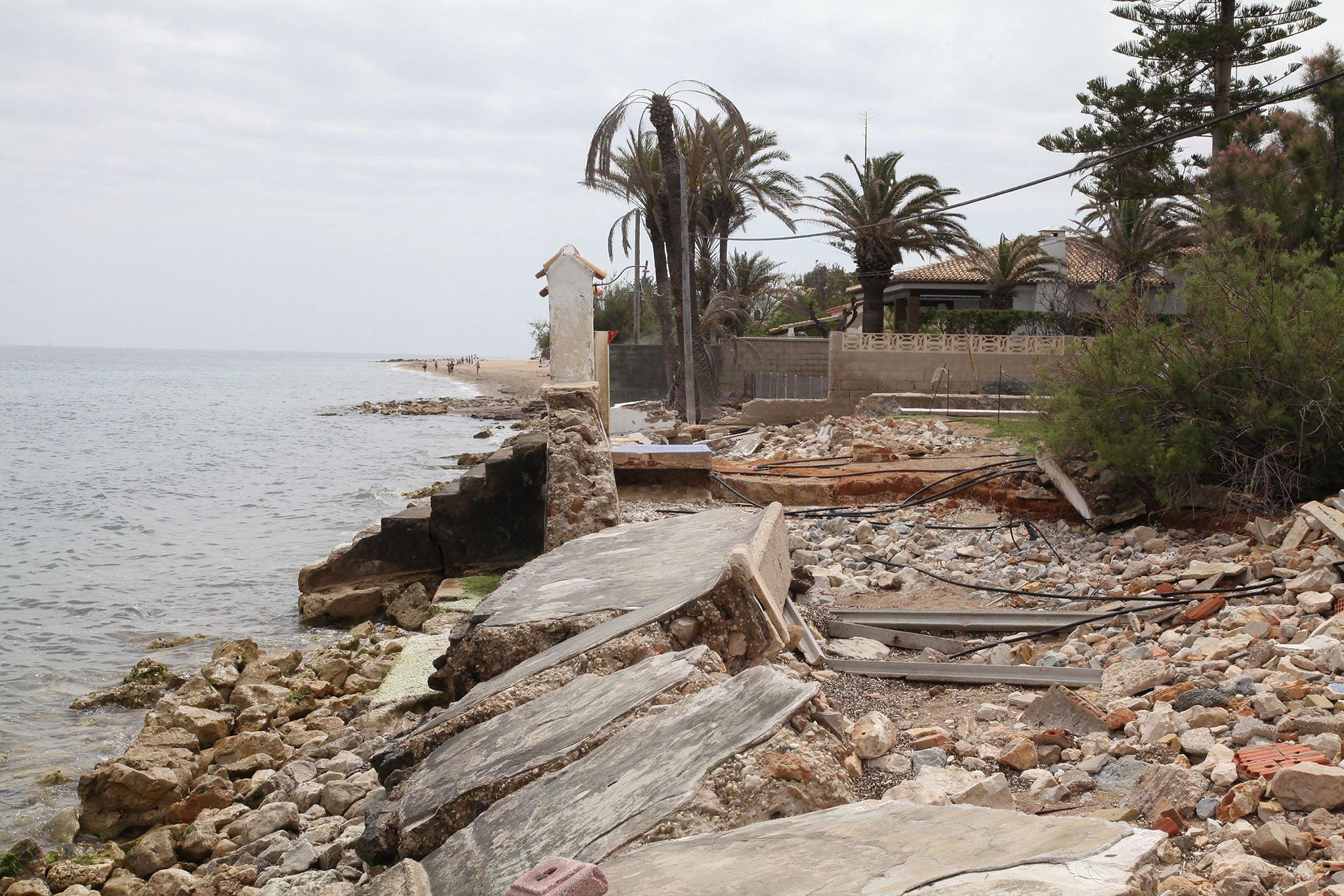 Estado actual de lo que era la playa