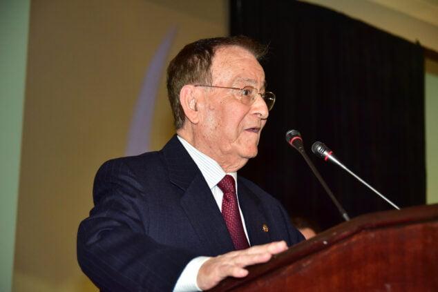 Imagen: José Antonio Sánchez durante una gala de CEDMA
