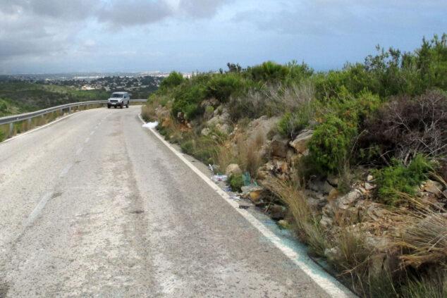 Imagen: Lugar de Les Planes donde ha tenido lugar el accidente