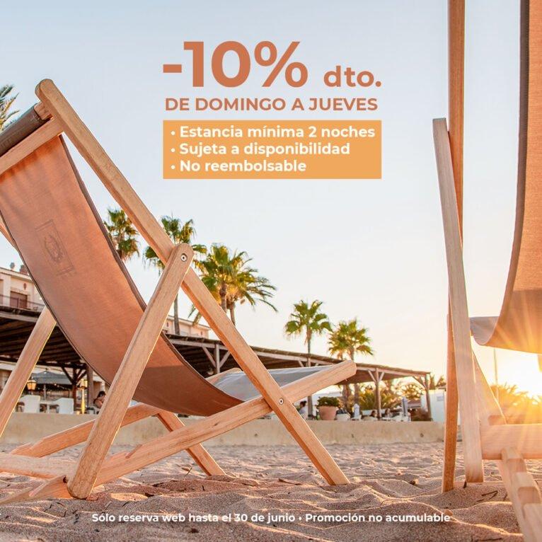 Oferta de descuento del 10% en web - Hotel Los Ángeles