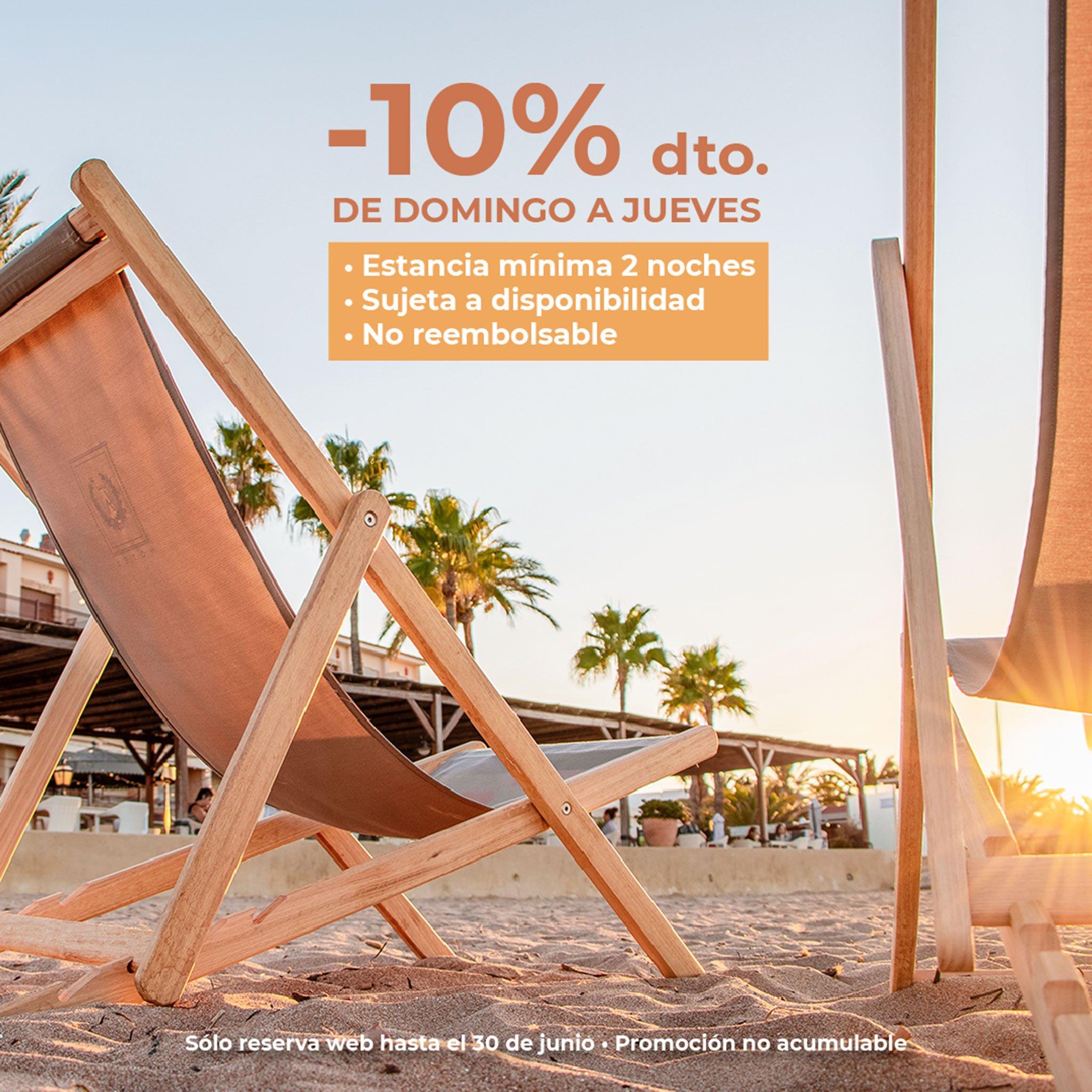 Oferta de descuento del 10% en web – Hotel Los Ángeles