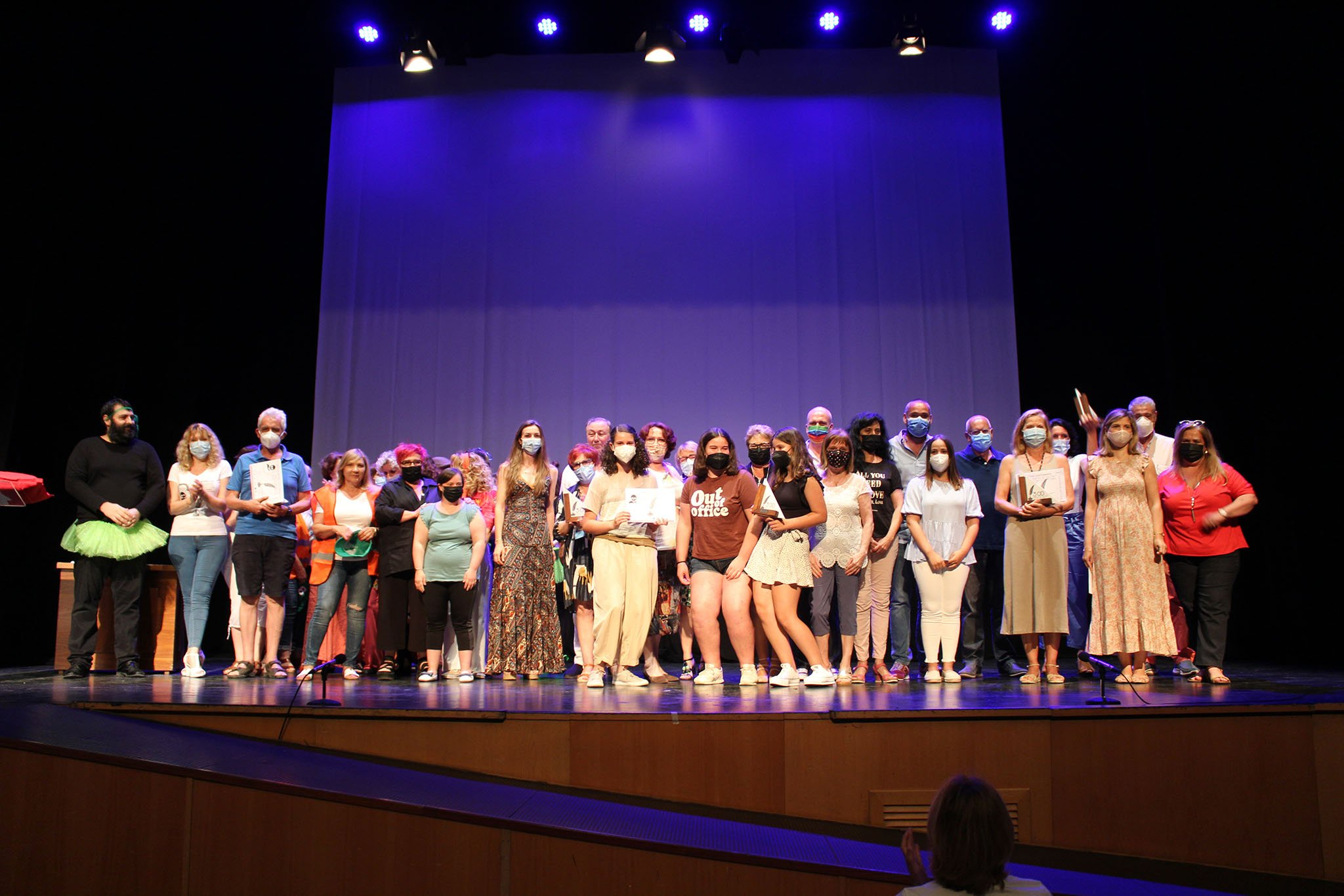 Participantes y premiados de la Mostra de Teatre %22Ciutat de Dénia%22