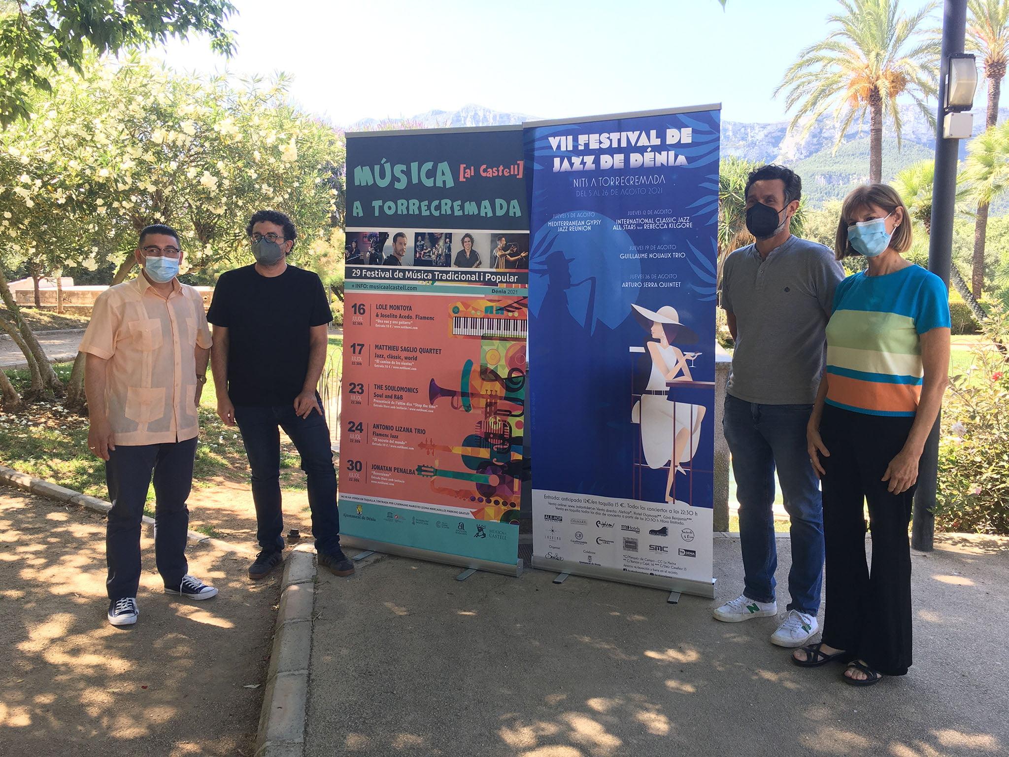 Presentación de las propuestas musicales de verano de los jardines de Torrecremada