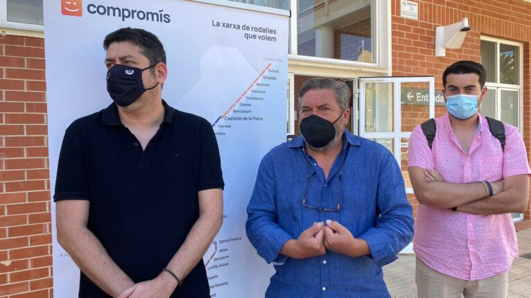 Rafa Carrió junto a Josep Nadal durante la reivindicación