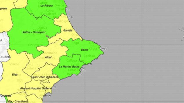 Imagen: Situación del coronavirus por departamentos de salud el 11 de junio de 2021