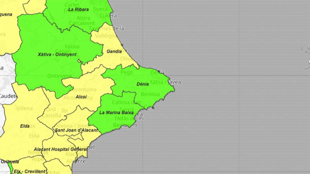 Situación del coronavirus por departamentos de salud el 11 de junio de 2021
