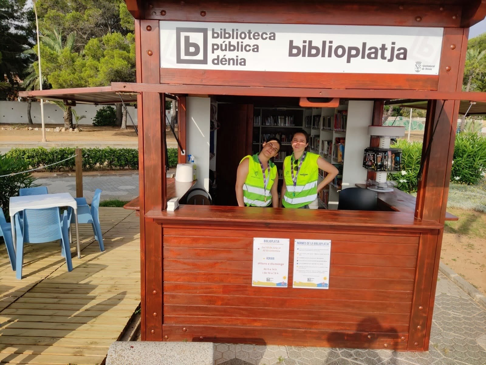 Trabajadoras de la nueva Biblioplatja