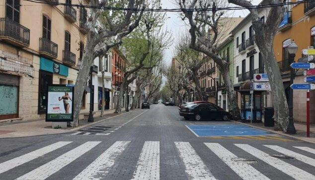 Imagen: Calle Marqués de Campo durante el confinamiento