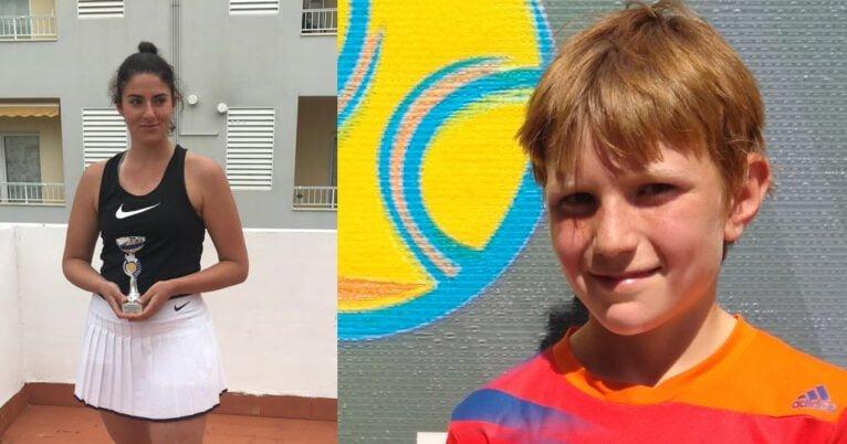 Finalistas en el Torneo MOA miembros del Club de Tenis Dénia