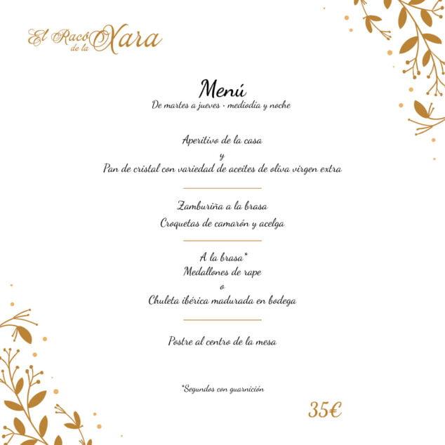 Imagen: Comer menú en Dénia - El Racó de la Xara