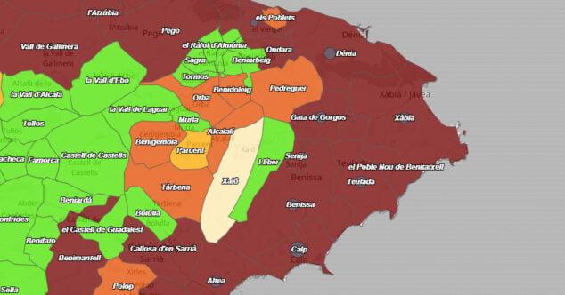 Imagen: Datos COVID Dénia