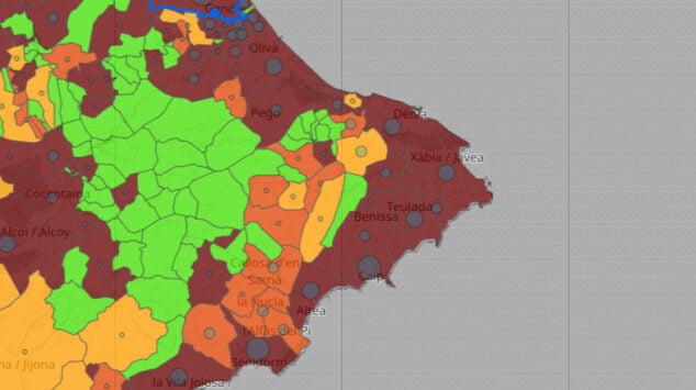 Imagen: Datos de coronavirus por municipio del 16 de julio de 2021
