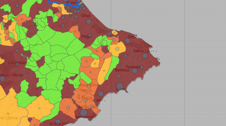 Datos de coronavirus por municipio del 16 de julio de 2021